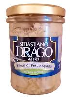 Filetti di Pesce spada in olio di oliva 200gr lavorazione artigianale siciliana
