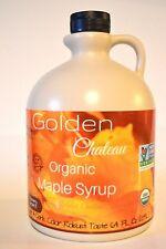 1Half Gallon Golden Chateau Maple Syrup Organic Grade A,Dark Color, Robust Taste
