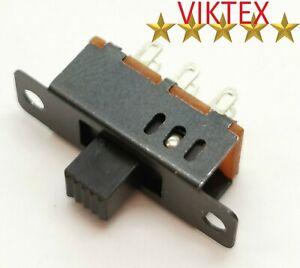 10x MINI SCHIEBESCHALTER MINIATUR 6 PIN 3 POSITIONEN MICRO 16x7,5MM 48V 0,5A