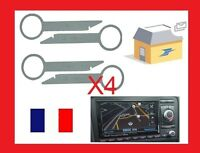 4 cles clef d'extraction de démontage pour autoradio VW, SEAT, AUDI, SKODA, FORD