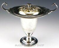 Antique Evans Silverplate Art Nouveau LIDED COMPOTE VASE URN or POTPOURRI HOLDER
