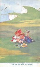 POSTCARD  COMIC  CHILDREN  Tell me  the  old  old  story          GILSON