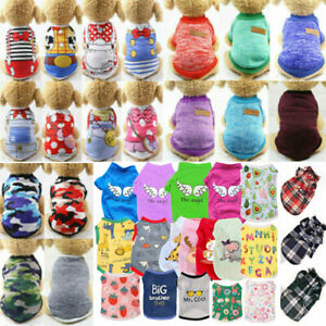 Pet Dog Cat Puppy Clothes Vest Dress For Small Dogs Pet Supply T Shirt Apparel##