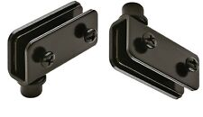 Glass Door Hinge,Simplex,Glass, 110 degree, steel, BLACK plated, 40X20mm 1 pair