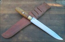 BIG Old Custom Blacksmith-made Rifleman's Carbon Steel Bowie/Side Fighting Knife