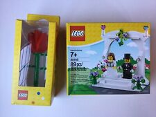 Lego Wedding Bride & Groom Set 40165 & Lego Rose Set 852786