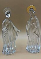 GORHAM CRYSTAL Gold Nativity Set Mary & Joseph Figurines incomplete GERMANY