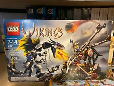 Lego Vikings Viking Double Catapault versus the Armoured Ofnir Dragon (7021) New
