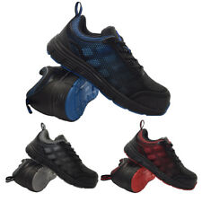 MENS ULTRA LIGHT WEIGHT STEEL TOE CAP WORK SAFETY TRAINERS SHOES BOOTS LACE UP