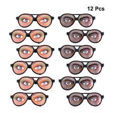 12X weibliche männliche Halloween-Party-Brille Partybrille Karneval Atzenbrille