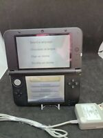 Nintendo 3DS XL Handheld Console - Red/Black with charger - no stylus