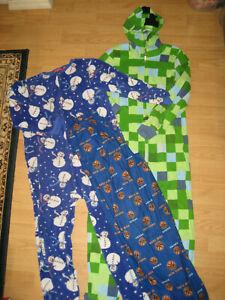 boys lot sleep NY Knicks pants pajama sleepwear 14-16 feety pjs fleece Minecraft