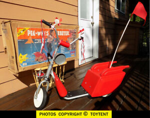 Pee-Wee's Playhouse ride-on PeeWee's scooter Matchbox 1988 with original box