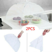2pcs Large Pop-Up Mesh Screen Protect Food Cover Tent Dome Net Umbrella Picnic