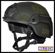 OD M/LG Bullet Proof LVL IIIA Tactical Ballistic KEVLAR OPS SOF Full Cut Helmet