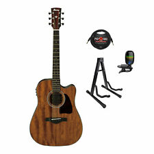Ibanez Aw54Ceopn Artwood Acoustic/Electric Guitar - w/ Tuner, Cable & Stand
