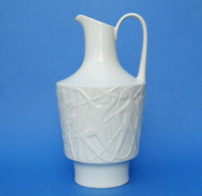 EDELSTEIN Bavaria - German OpArt White Glazed Vase by KURT WENDLER - Figures