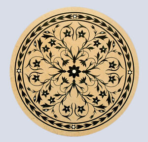 """48"""" Marble Dining Table Top Marquetry Floral Inlay Hallway Handmade Decor B773A"""