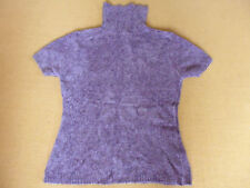 LADIES SOFT PURPLE SHORT SLEEVE RAYON ACRYLIC PULLOVER JUMPER BY TARGET SIZE 16