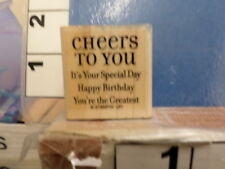 Cheers to you Happy birthday saying   STAMPIN UP!  RUBBER STAMP 5M
