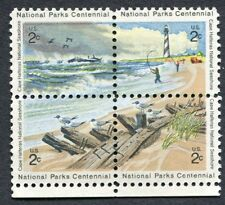 4 NATIONAL PARKS se-tenant stamps Scott 1451a Excellent Condition MNH/OG (7-B1)