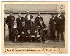 France, Le Conseil de Révision à la Motte s. Lézigné  Vintage citrate print. Pho