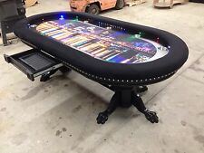 Custom built 4' x 8' professional quality poker tables