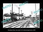 OLD LARGE HISTORIC PHOTO OF TEXARKANA TEXAS, THE RAILROAD SIGNAL TOWER c1940