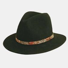 SCALA SALE * MEN BROWN WOOL FEDORA HAT * XL * NEW CRUSHABLE GOLF FISH HUNT UPF50