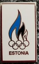 Olympic ESTONIA National Olympic Committee NOC pin