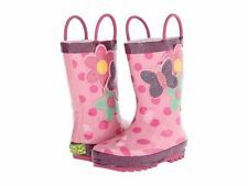 NEW Western Chief Kids Funky Floral Rain Boots  - Size 12 - Pink