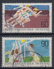 Berlin Germany 1981 Θ Mi.664/65 Sport Laufen Running Volleyball