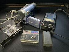 New ListingPanasonic Pv-Gs9 MiniDv Camcorder w/Pci Firewire Card, Charger, Battery Mini Dv