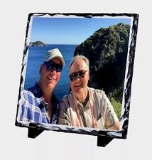 Personalised Photo Rock Slate Custom Printed With You're Picture,offer 2@£14.49