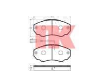 Bremsbelagsatz Scheibenbremse - NK 221947