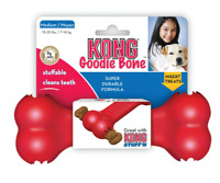 KONG Classic Goodie Bone Dog Treat Dispenser Tough Rubber Chew Toy