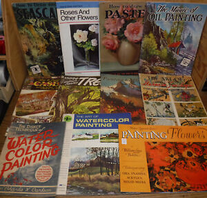 11 vintage Art Instruction Book lot Walter T. Foster & others