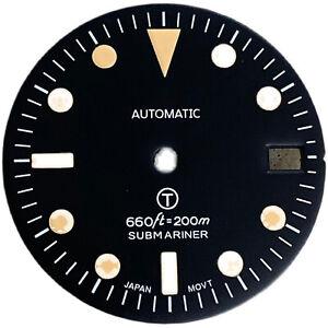 28.5mm Dial Green Luminous w/ Calendar for NH35/NH36 Watch