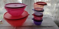 ^ tupperware neuf 2 Large Mélange Stockage Serving Bols W Couvercles +4 Tropical Jar