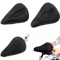 Comodo Cubierta de asiento de bicicleta Gel de silicona 3D Cojin Saddle Pad