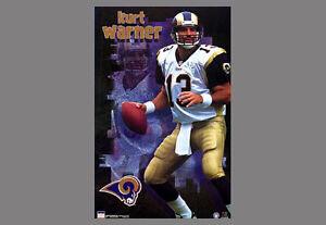 Vintage Original KURT WARNER St. Louis Rams 2000 Starline NFL Action POSTER