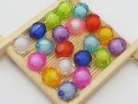 "Craft DIY Mixed Color Acrylic Faceted Round Beads 6mm-12mm ""Bead in Bead"" Spacer"