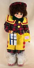 "Vintage Brinn's September Calendar Clown Doll 13"" With Box Coa 1988"