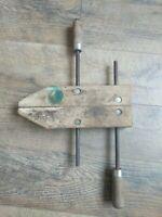 "Vintage Jorgensen 12"" Adjustable Wood Screw Clamp Vise Woodworking Tools ⭐"