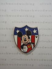 *REAL* WDW 2013 Disney World Hidden MICKEY MOUSE USA Patriotic Character Pin #2