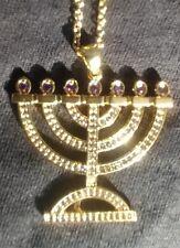 Hebrew Israelite Holy Menorah Pendant w/ Chain