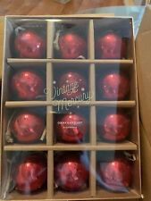 Set Of 12 Pottery Barn Vintage Mercury Christmas ornaments Red