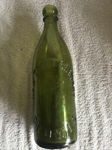Old Green Beer Bottle Pint 'New Trent Brewery Crowle'