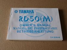 MANUEL UTILISATEUR DU PROPRIETAIRE YAMAHA RD50 1979-1980- Owner's manual RD 50