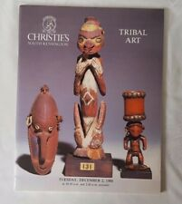 christies catalogue tribal art DEC 86 +